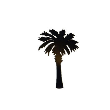 "Palmetto Tree 10"" Metal Wall Art Home Decor"