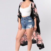 Let's Get Lost Jacket - Black/Pink