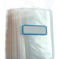 IMC Hot 100Pcs Ziplock Lock Zipped Poly Clear Bags Plastic Zip 10*15CM