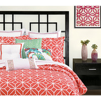 Trina Turk Trellis Comforter Set - Twin/Twin X-Long Coral - Zappos.com Free Shipping BOTH Ways