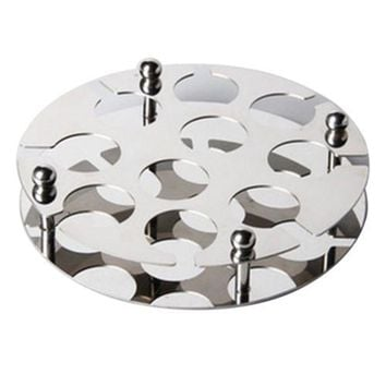 Stainless Steel Wine Cup Glass Holder Stand Round Bullet 4cm
