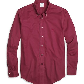 Men's Non-Iron Slim Fit Solid Oxford Sport Shirt | Brooks Brothers