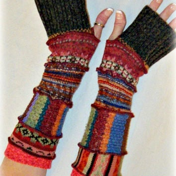 Upcycled Arm Warmers, Sweater Arm Warmers, Fingerless Gloves, Upcycled Sweaters