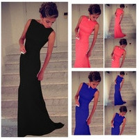 European sexy party dresses Womens Prom Ball Cocktail Long Dress Slim Maxi Formal Evening Gown [8384273543]