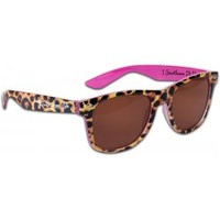 Cherished Girl Faith, Hope, and Love Leopard Christian Sun Glasses