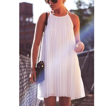 Hot Sale White Dress One Piece Dress [10013378381]