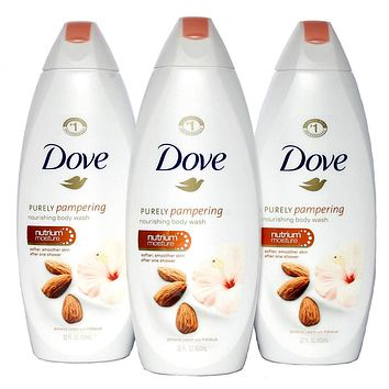 Dove Purely Pampering Almond Cream With Hibiscus Body Wash 22 Oz  PACK OF 3