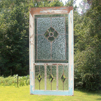Stained Glass Flower Panel - Victorian Inspired Suncatcher