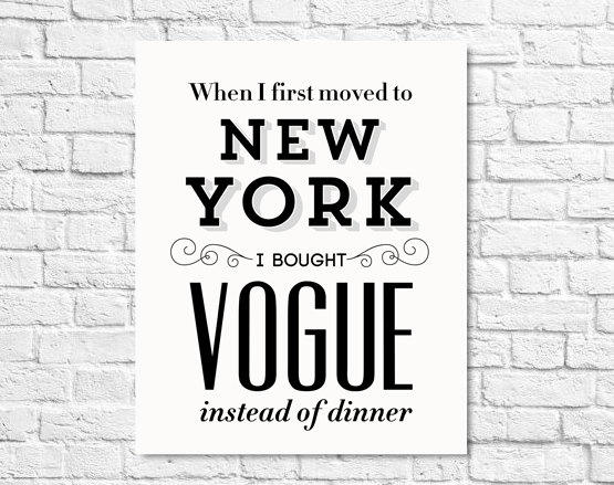 Typography Print New York Art Carrie From Paperchat On Etsy