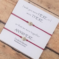 "Compass Bracelets on ""I Wish You Were Here..."" Card 