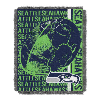 Seattle Seahawks NFL Triple Woven Jacquard Throw (Double Play) (48x60)