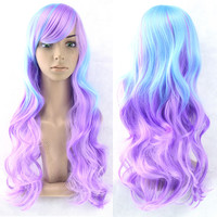 70cm 11colors Cosplay Wig Synthetic Wigs Perruque Synthetic Women Hair