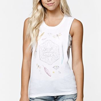 Element Dream Muscle Tank Top - Womens Tee - White