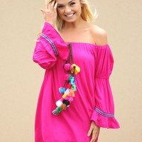 Eastern Sun Dress in Fuchsia | Monday Dress Boutique