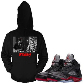 Jordan Retro 5 Satin Sneaker Hoodies - FRIDAY
