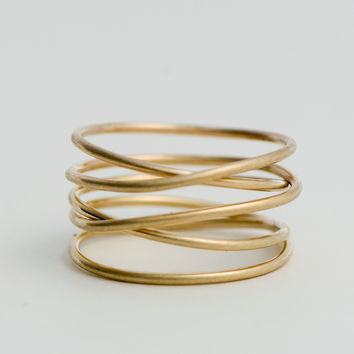 Wrap Ring, 14k gold fill