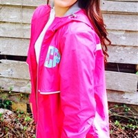 Hot Pink Lilly Pulitzer Monogrammed Rain Jacket