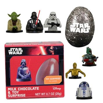 Galerie Frozen and Star Wars Milk Chocolate with Toy Surprise 0.7oz
