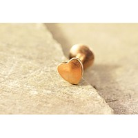 Tiny Rose Gold Heart Cartliage Earring Tragus Helix Piercing