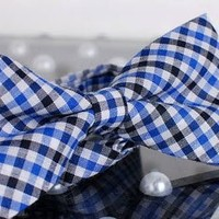 Tok Tok Designs® Handmade Men Bow Ties - B129 (TC Cotton Fabric)