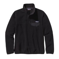 Patagonia Women's Lightweight Synchilla® Snap-T® Pullover | Black w/Forge Grey