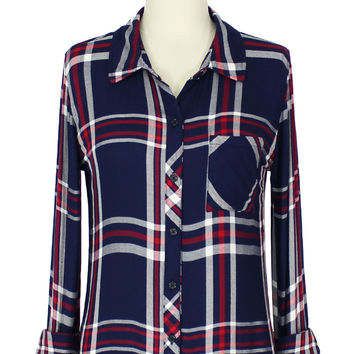 Rails Hunter Button Down Shirt in Patriot/Red/White