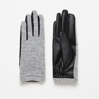COMBINED FABRIC GLOVES