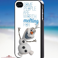 Olaf quote frozen Disney - iPhone 4/4s/5/5s/5c Case - Samsung Galaxy S3/S4 - Blackberry z10 Case - Black or White