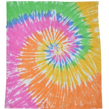 PASTEL TIE DYE Blanket : Rainbow, Home Decor, Throw, Duvet, Hippie, Colorful, Room Decor, Dorm Room, Trippy