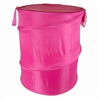 Hot Pink Bongo - Durable Dorm Laundry Hamper College Laundry Supplies Dorm Stuff Wash Students