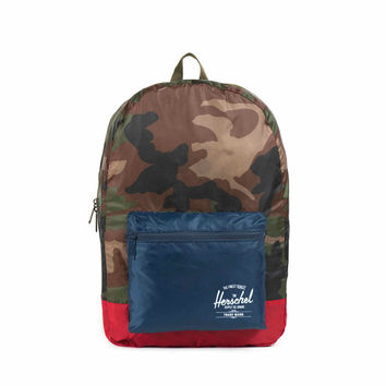 Herschel Supply Co. Packable Backpack Woodland Camo/Navy/Red