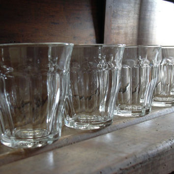 Typical vintage french bistrot glasses Duralex