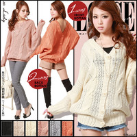 Rakuten: Popular style 2WAY cable knit cardigan ◆ 1/16 shipment plan- Shopping Japanese products from Japan