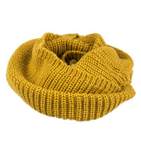 Solid Color Knit Funnel Snood
