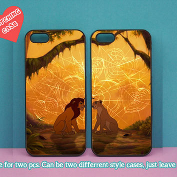 iphone 5C case,The Lion King,Simba,Nala,iphone 5S case,iphone 5 case,iphone 4 case,ipod 4 case,ipod 5 case,Blackberry Z10 case,Q10 case