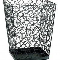 OIA Wire Square Wastebasket in Black - 42324 - Waste Baskets - Bathroom Fixtures - Bed & Bath