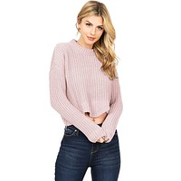 Sugar Knit Crop Sweater