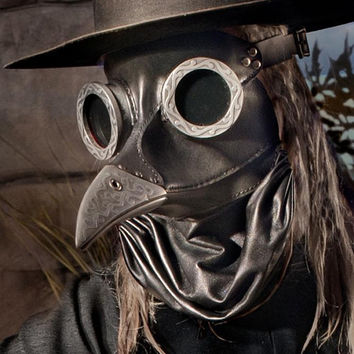 Ichabod Steampunk Plague Doctor Mask in black by TomBanwell