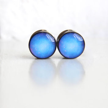 Galaxy Plugs, Space Gauges, Nerdy Gauges, Astronomy Plugs - sizes 00, 7/16, 1/2, 9/16, 5/8, 3/4, 7/8, 1""