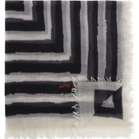 David Szeto  Square Stripe Print Scarf at Barneys.com