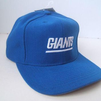 Ny Giants Spell Out New York Nfl Hat Vintage Blue Snapback Baseball Cap W/ Tag