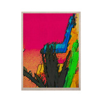 "Oriana Cordero ""Days of Summer"" Rainbow Abstract KESS Naturals Canvas (Frame not Included)"