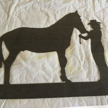 Billy's Metal Girl and Horse