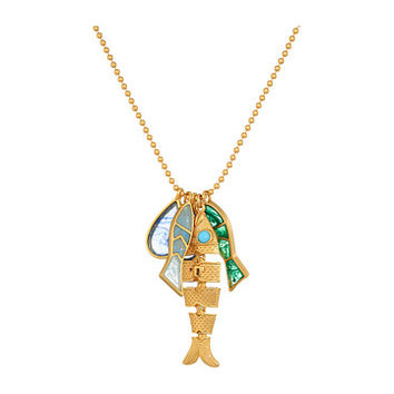 Tory Burch Fish Charm Necklace