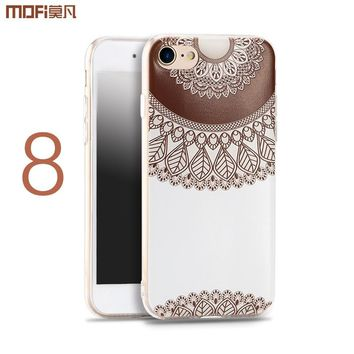 For iphone 8 plus case for iphone 8 case i8 cover soft pattern silicone flower Bohemia flamingo bird brown ethnic style colorful
