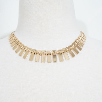 Gold Spine Necklace