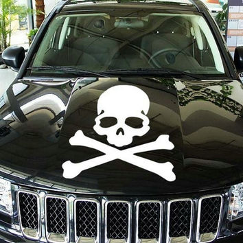 Metal Skull Skeleton Crossbones Car Sticker 3D 3M Skull Metal Car Sticker = 1929641796
