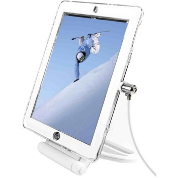 iPad Lockable Case Bundle With Security Rotating Stand andwith security cable lock - Black. For iPad Air 1 / Air 2