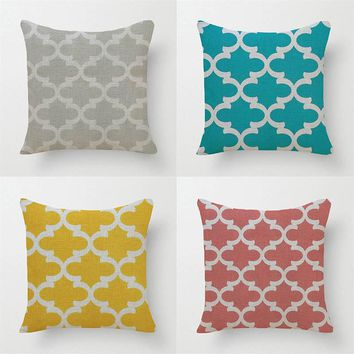 Quatrefoil Printed Pillows