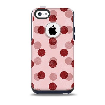 Scratched & Scatterd Pink Polkadots Skin for the iPhone 5c OtterBox Commuter Case